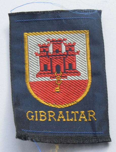 Vintage Scouting Boy Scout  GIBRALTAR Badge  Cloth Patch.