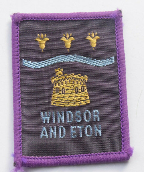 Vintage Scouting Boy Scout WINDSOR AND ETON Badge  Cloth Patch.