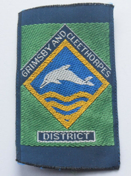 Vintage Scouting Boy Scout GRIMSBY AND CLEETHORPES Badge  Cloth Patch.