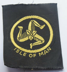 Vintage Scouting Boy Scout  ISLE OF MAN  Badge  Cloth Patch. - Confessor the shop for all Collectables Coins Badges Banknotes Medals Tokens militaria