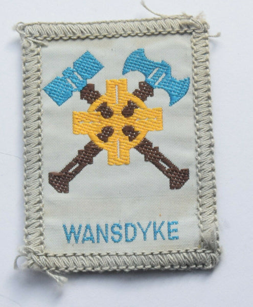 Vintage Scouting Boy Scout   WANSDYKE Badge  Cloth Patch.