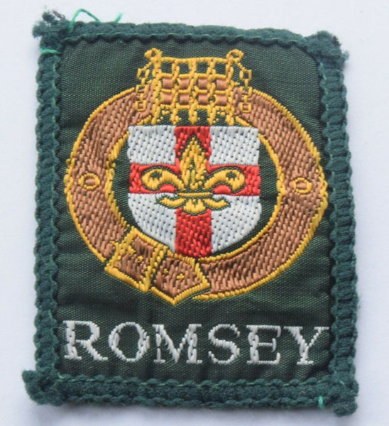 Vintage Scouting Boy Scout ROMSEY Badge  Cloth Patch.