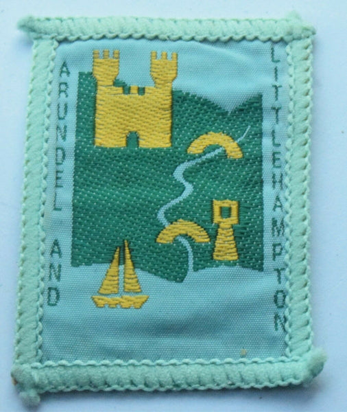 Vintage Scouting Boy Scout Arundel & Littlehampton Badge  Cloth Patch.