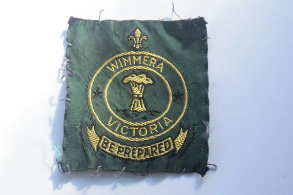 Vintage Scouting Boy Scout Wimmera Victoria Badge  Cloth Patch.
