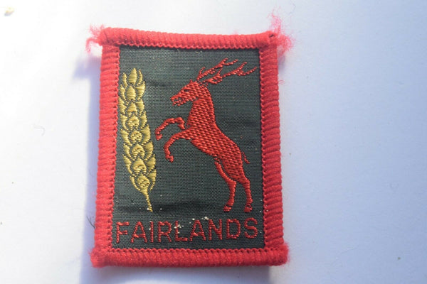 Vintage Scouting Boy Scout Fairlands Badge  Cloth Patch.