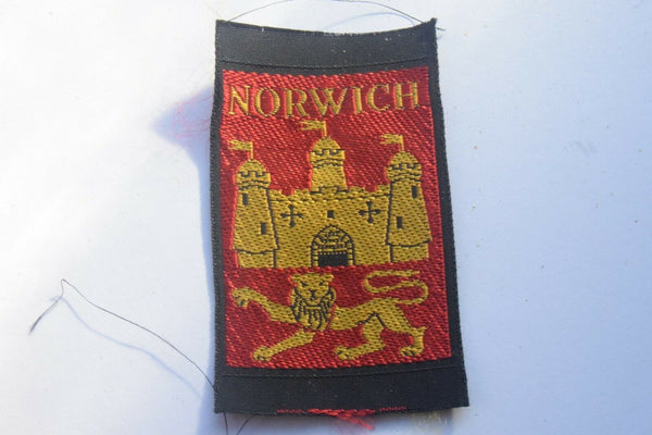 Vintage Scouting Boy Scout Norwich Badge  Cloth Patch.