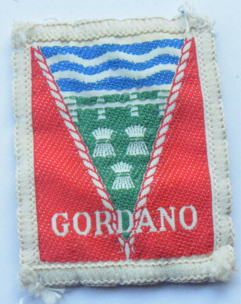 Vintage Scouting Boy Scout Gordano Badge  Cloth Patch.