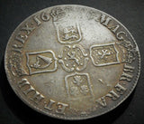 1696 King William III Crown  OCTAVO straight breast plate third bust Silver UK Coin