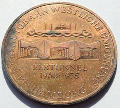 GERMANY MEDAL 1968-1975 ELBTUNNEL HAMBURG - Confessor