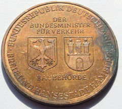 GERMANY MEDAL 1968-1975 ELBTUNNEL HAMBURG - Confessor the shop for all Collectables Coins Badges Banknotes Medals Tokens militaria