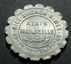 1921 ALAIS MARSEILLE / CHAMBERS DE COMMERCE 10 CENTIMES token coin - Confessor the shop for all Collectables Coins Badges Banknotes Medals Tokens militaria
