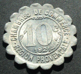 1921 ALAIS MARSEILLE / CHAMBERS DE COMMERCE 10 CENTIMES token coin