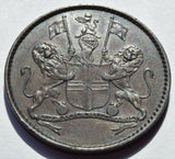 1821 St. Helena  East India Company Halfpenny high grade coin