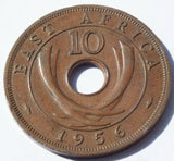 1956 East Africa 10 Cents Queen Elizabeth II high grade coin