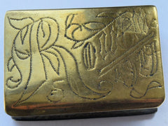 RARE WWI TRENCH ART BRASS MATCH BOX HOLDER -1917 FRANCE ROUEN JOHN BULLOCK - Confessor the shop for all Collectables Coins Badges Banknotes Medals Tokens militaria