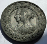 Rare Original 1851 Great Exhibition Crystal Palace white metal medal