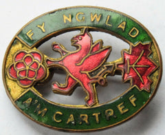 RARE WWII Welsh Women's institute Home Front lapel badge fy ngwlad am cartref - Confessor the shop for all Collectables Coins Badges Banknotes Medals Tokens militaria