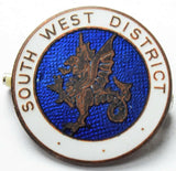 vintage South West District 3rd pattern formation enamel badge.