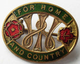 W.I. WOMEN'S INSTITUTE  **  WARTIME FOR HOME & COUNTRY ENAMEL BADGE
