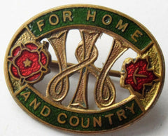 W.I. WOMEN'S INSTITUTE  **  WARTIME FOR HOME & COUNTRY ENAMEL BADGE - Confessor the shop for all Collectables Coins Badges Banknotes Medals Tokens militaria