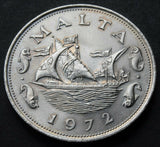 1972 Malta 10 cents high grade coin