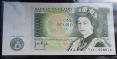 Bank Of England £1 One Pound Banknote J PAGE Y14 028878