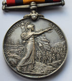 1899-1902 Boer War Medal Queens South Africa 4011 pte W Harris Royal Fusiliers