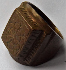 16th Century Tudor Period Armorial Signet heraldic seal ring with Family Crest engraved on Bezel