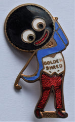 Robertsons jam golly badge golfer golf player by Rev Gomm