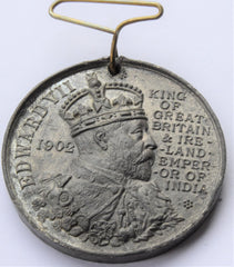 KING EDWARD VII 1902 CORONATION MEDAL - City of Worcester - MAYOR Holland