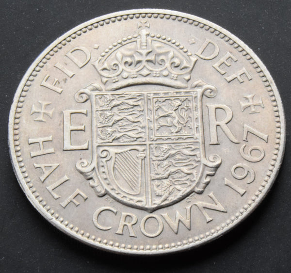 1967 Queen Elizabeth II Half Crown UK Coin