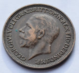 1928 Great Britain Farthing King George V high grade UK coin