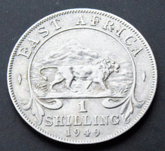 1949 British East Africa King George VI Shilling Coin