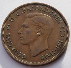 1946  King George VI Penny high grade UK coin