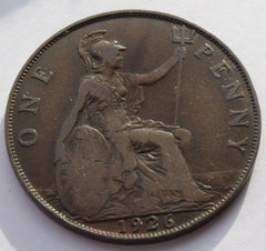 1926  King George V Penny  UK coin