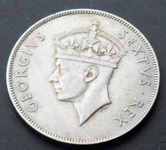 1950 British East Africa King George VI Shilling Coin