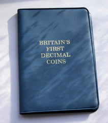 1968-1971 Uncirculated Britain's First Decimal UK Coin Set in Wallet 1/2p to 10p