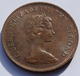 1971 Jersey Bailiwick of Jersey 2 New Pence Queen Elizabeth II 2nd Portrait coin