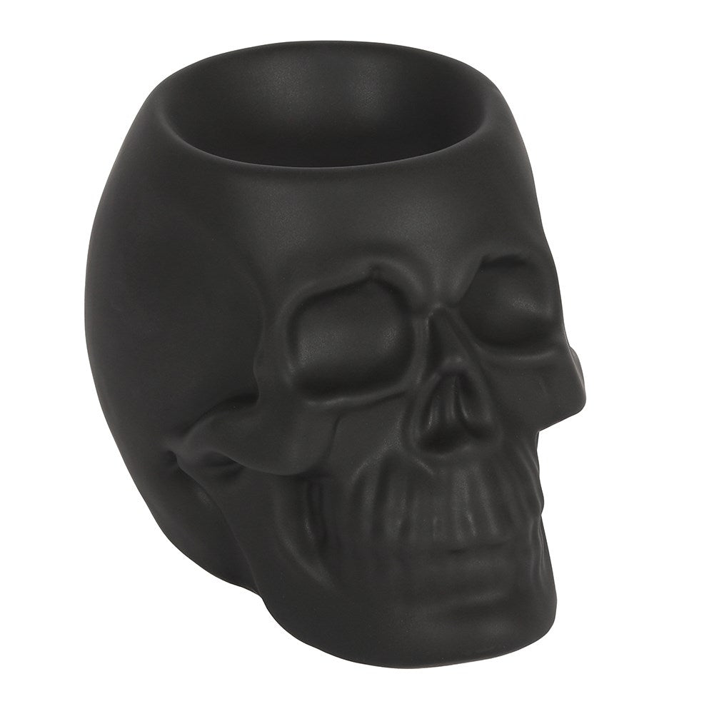Black Skull Tealight Burner