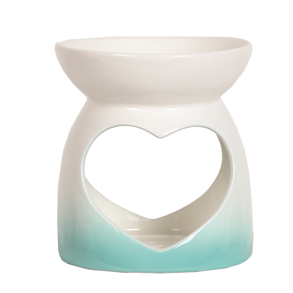 Teal Heart Tealight Burner