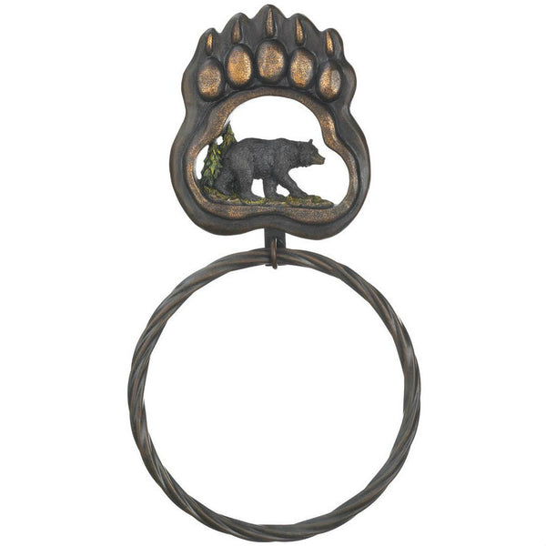 Bear Paw Towel Ring