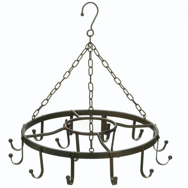 Circular Iron Hanging Pot Rack