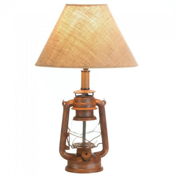 Vintage-Look Camping Lantern Table Lamp