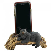 Black Bear on Log Phone Holder
