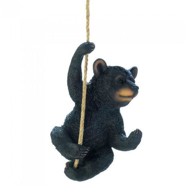 Hanging Black Bear Garden Decor