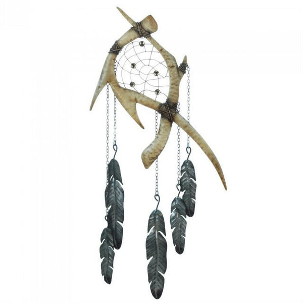 Antlers Dreamcatcher Metal Wall Decor