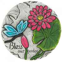 Bless Our Garden Dragonfly Cement Garden Stepping Stone