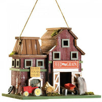 Feed and Grain Farmhouse Bird House