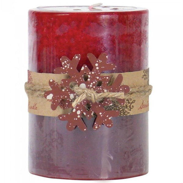 Apple Spice Scented Pillar Candle - 4 inches