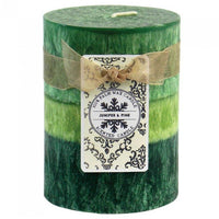 4-inch Palm Wax Scented Candle - Juniper & Pine